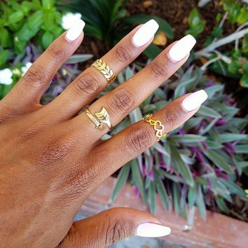 Elegant Gold Ring Set