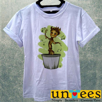 Low Price Women's Adult T-Shirt - Dancing Groot design