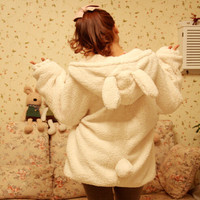 Japanese kawaii cartoon hooded coat