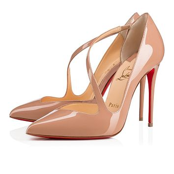 Christian Louboutin Cl Jumping Nude Patent Leather 18s Pumps 1180825pk1a - Best Online Sale