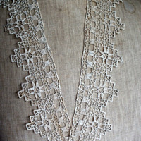 Antique Laces Lovely collection of 3 wonderful laces Wedding supplies Period Costume design OOAK