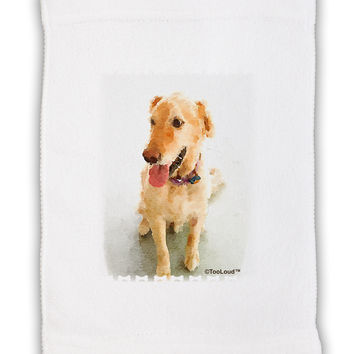 "Golden Retriever Watercolor Micro Terry Sport Towel 11""x18"