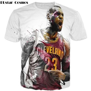 LeBron James Roaring Funny Print Men Women t shirts casual O-Neck T shirt