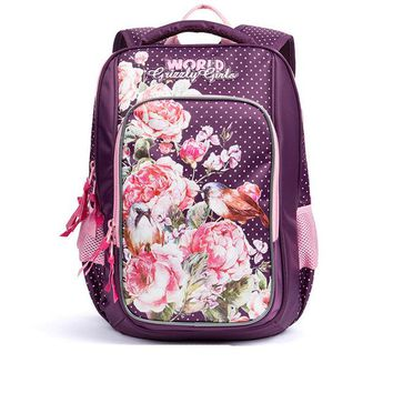 School Backpack 2018 Fashion Children s for Girls Floral Pattern Primary School Bags Waterproof Orthopedic Backpacks Book Bag AT_48_3