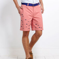 Men's Shorts: School of Fish Embroidered Shorts for Men - Vineyard Vines