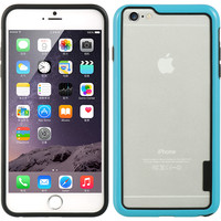 DW Premium Hybrid Candy Bumper iPhone 6 Plus Case - Blue