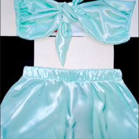 SWEET LORD O'MIGHTY! BABYGIRL SILK SET IN MINT