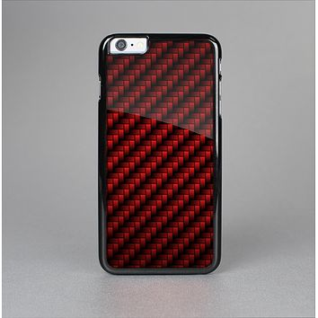 The Glossy Red Carbon Fiber Skin-Sert for the Apple iPhone 6 Plus Skin-Sert Case