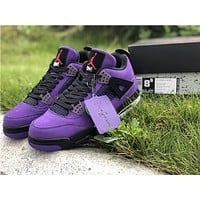 Travis Scott x Air Jordan 4 Black/Purple