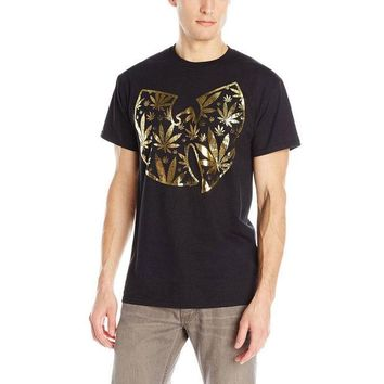 DCCKIS3 Wu-Tang Clan - Pot Leaf Clan Logo Adult T-Shirt