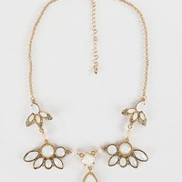 Women's Dainty Statement Necklace in Gold by Daytrip.