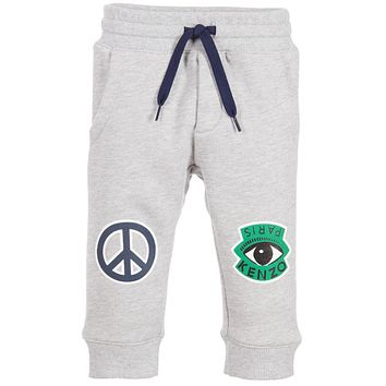 Kenzo Boys Grey Emoji Sweatpants