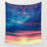 Colours, Clouds & Sunset. Wall Tapestry by Viviana Gonzalez