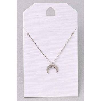 Over the Moon Necklace - Silver