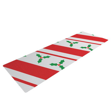 "KESS Original ""Holiday Holly"" Christmas Holiday Yoga Mat"