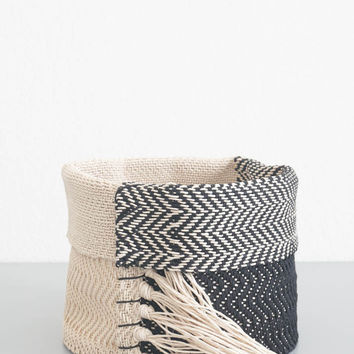 Black Hemp Basket - Small