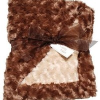Cozy Faux Brown and Camel Baby Blanket
