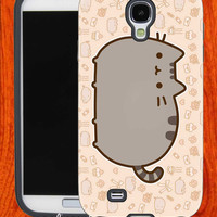 Pusheen The Cat pattern,Accessories,Case,Cell Phone,iPhone 4/4S,iPhone 5/5S/5C,Samsung Galaxy S3,Samsung Galaxy S4,Rubber,28-11-19-Vr