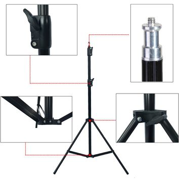 Photographic equipment 210cm 1/4 Light phone stand camera holder Stand Lamp cap  Tripod Photo Studio Accessories