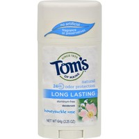 Tom's of Maine Natural Deodorant Aluminum Free Honeysuckle Rose - 2.25 oz