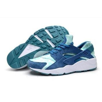 Men s New Nike Air Huarache Sneakers Trainers Green Abyss Turbo Green Turquoise 318429 331