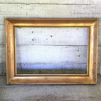 Picture Large Frame Wood Frame Ornate Frame Antique Gold Frame French Country Frame Wooden Frame Gilded Frame Empty Frame