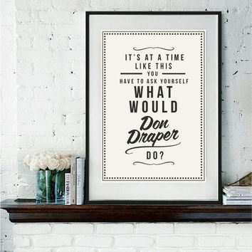 Retro Style What Would Art Print by RockTheCustardPrints on Etsy