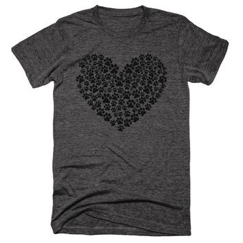 Dog Paw Heart Unisex Tee
