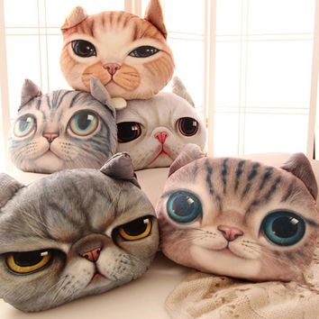 Cat Head Pillow Cushions - FREE SHIPPING!