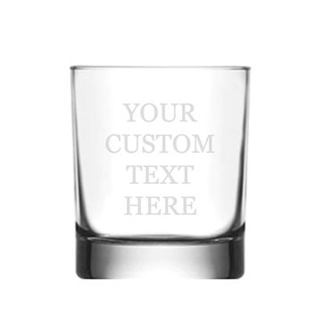 Custom Monogrammed Personalized Scotch Whiskey Glass 10.5 oz - Free 3D Laser Engraved Personalization