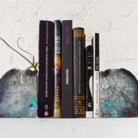 Air Plant Planetary Storm Magic Book Ends - Crystal Bookends Air Plant Garden