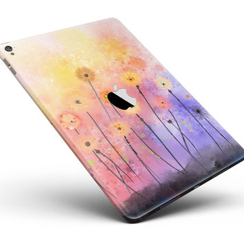 "Drizzle Watercolor Flowers V2 Full Body Skin for the iPad Pro (12.9"" or 9.7"" available)"