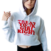 Dimepiece Treat Your Girl Right Hoodie White