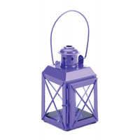 Mini Crisscross Candle Lamp Purple