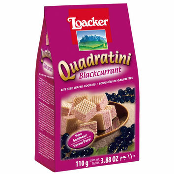 Quadratini Blackcurrant Wafer Cookies by Loacker 7.7 oz
