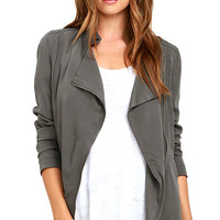 Jack by BB Dakota Vincente Dark Grey Jacket