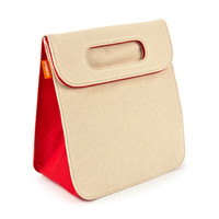 Alec Insulated Lunch Bag in Natural + Red | Totes & Bags | Poppin