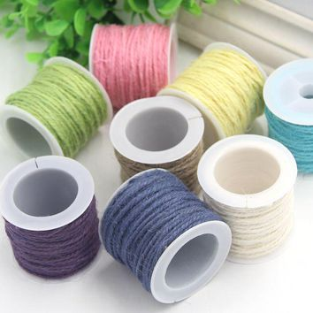 10m/Lot Hessian Jute Twine Rope Party Decoration