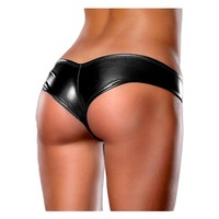 Five colors sexy leather panties womens underwear
