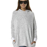 RUSTY OUTSIDER WOMENS HOOD FLEECE - WHITE