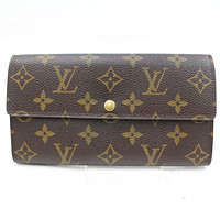 Authentic Louis Vuitton Long Wallet Portefeuille Sarah M61734 Monogram 77883