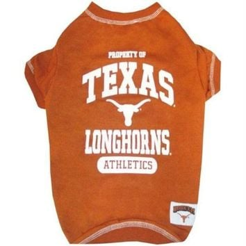 DCCKT9W Texas Longhorns Pet Tee Shirt