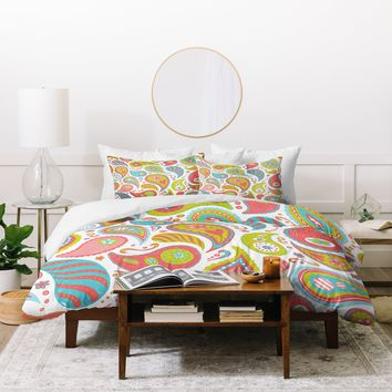 Heather Dutton Power Paisley Duvet Cover