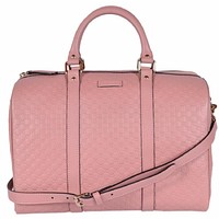 Gucci Microguccissima Soft Pink Leather Dome Boston Bag 449646