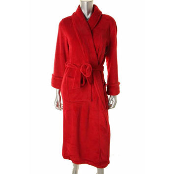 Charter Club Womens Polyester Solid Long Robe