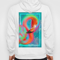 Color Outside the Lines (Neon Flamingo Remix) Hoody by Soaring Anchor Designs