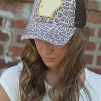 Arkansas State Hat {Cheetah Gold}
