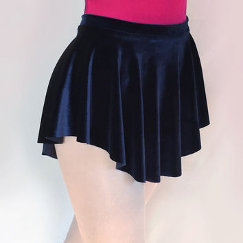 Dark Navy Blue Stretch Velvet Ballet Dance Skirt- SAB Style- Royall Dancewear