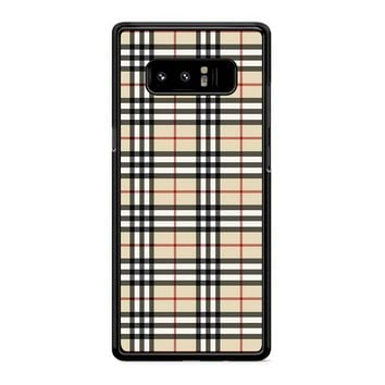 Burberry Inspired Samsung Galaxy Note 8 Case
