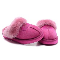 UGG Fashion Women Casual Wool Slipper Shoes Roses
